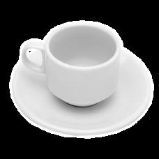 Jogo 06 Xícaras 80ml de Café com Pires Ester Bon Gourmet