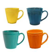 Caneca Yoi Corona Relieve - Colors - 300ml